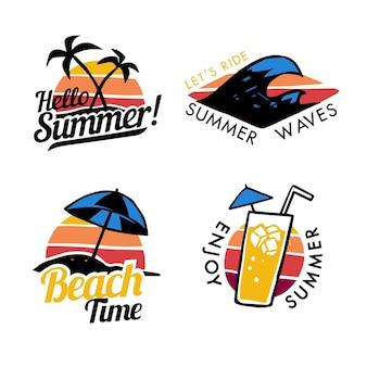 Set di badge estivi