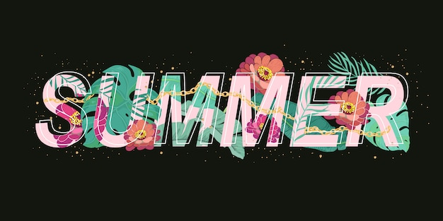 Summer banner design vector