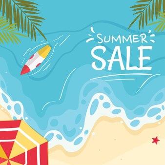 Summer banner   illustration