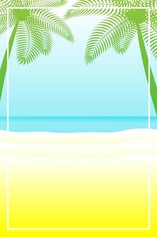텍스트를 위한 공간이 있는 여름 배너 또는 배경. 인사말 카드, 포스터 및 광고, 벽지. 여름 풍경, 휴가, 주말, 휴가 개념. 해피 샤이니 데이.