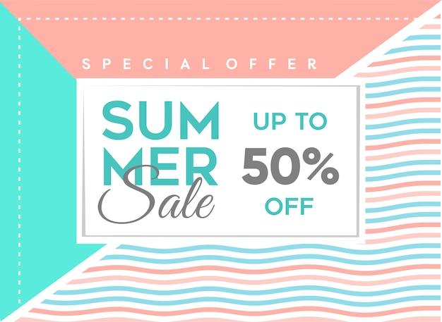 Summer banner sale design template