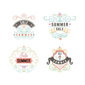 Summer banner sale and discount Premium Vector