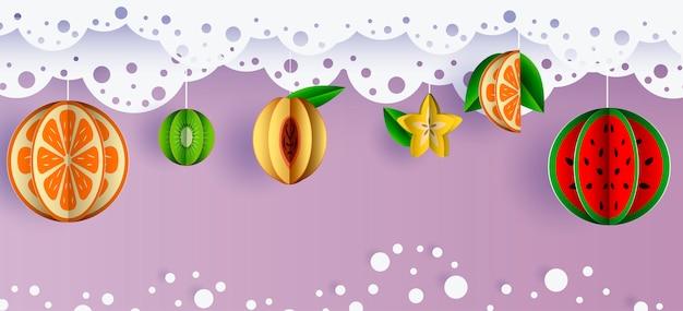 Summer banner sales tropical fruit