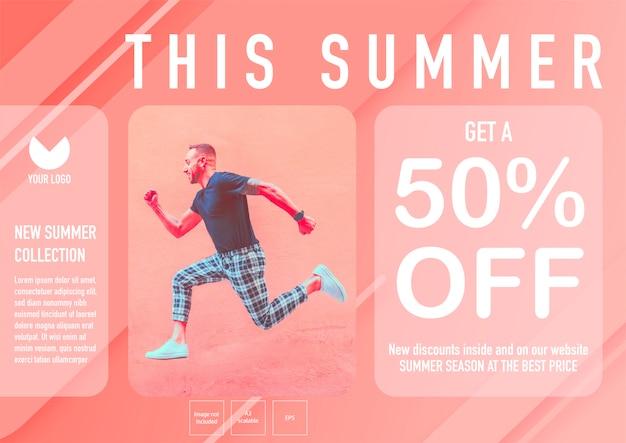 Summer banner template. get a 50% off