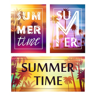 Summer banners collection