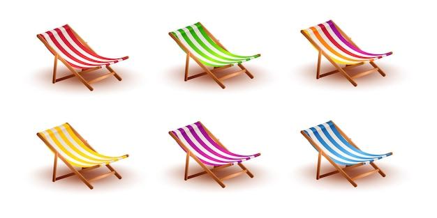 Набор летних пляжных стульев для летних каникул и путешествий