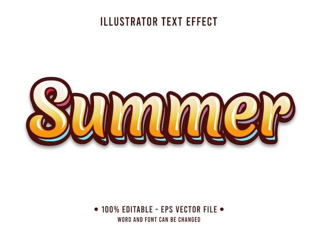 夏のビーチの編集可能なテキスト効果