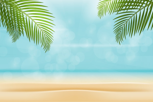 Summer on beach isolated background.