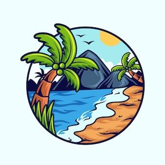 여름 해변 풍경
