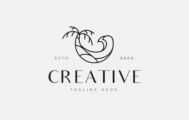 サマービーチのロゴデザインテンプレート