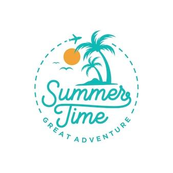 Шаблон логотипа летний пляж