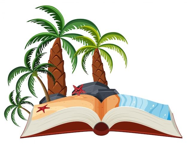 A summer beach open book