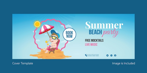 Summer beach party cover page design