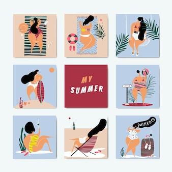 Summer on the beach set