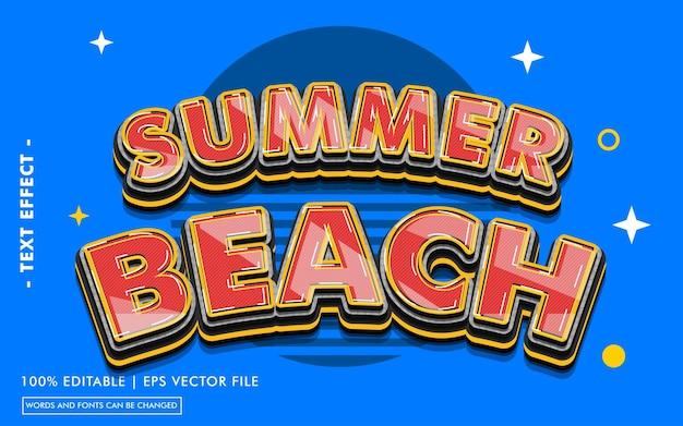 Summer beach text effect style