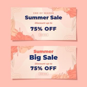 여름 큰 판매 배너 서식 파일