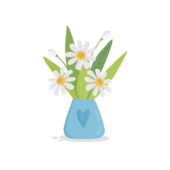 じょうろアイコンの花の夏の花束。じょうろの花の夏の花束の漫画は、白い背景で隔離のwebデザインのアイコンをベクトルすることができます