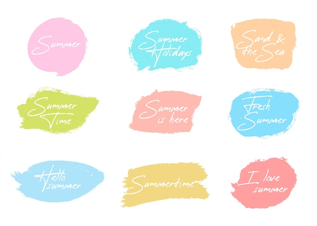 Summer brush badge collection