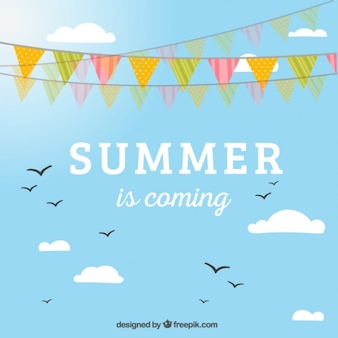 Summer bunting background