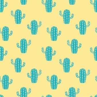 Summer cactus punchy pastel seamless pattern