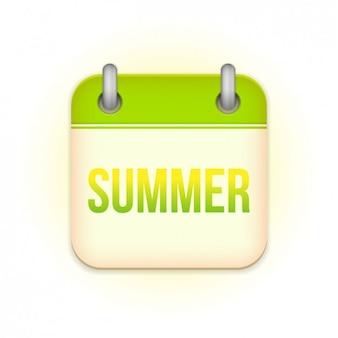 Il design del calendario estivo