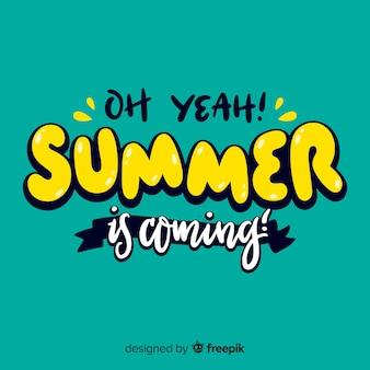 Summer calligraphic background