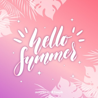 Summer calligraphic background