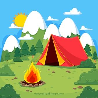여름 캠프 배경