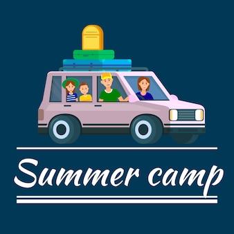 Summer camp banner.