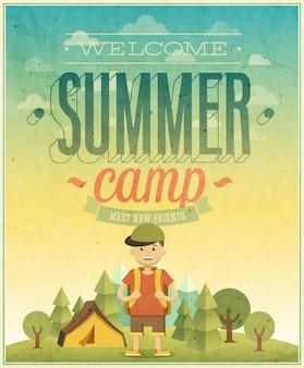 サマーキャンプのポスター