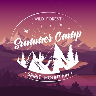 Summer camp travel advertisement