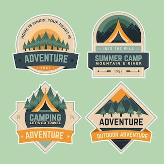 Summer camping school adventure badges