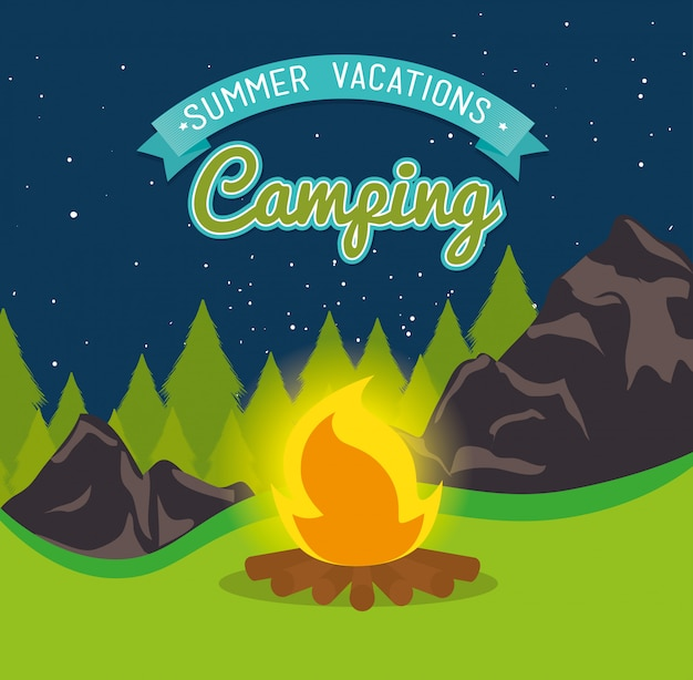 Summer camping and travel