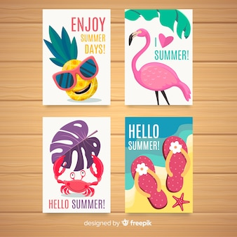 Summer card collectio