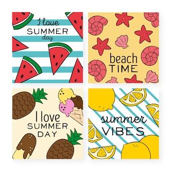 Tema del modello di raccolta di carte estive