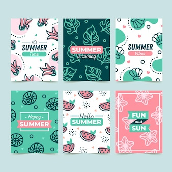 Summer card collection template