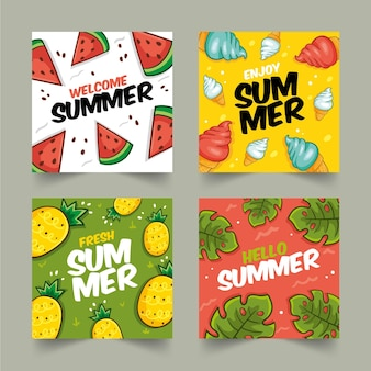 Modello di raccolta delle carte estive