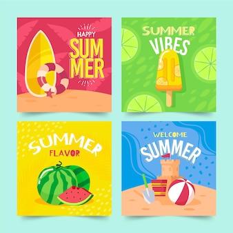 Тема коллекции летних открыток