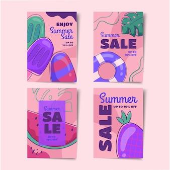Set di carte estive