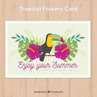 花とトカカの夏のカード