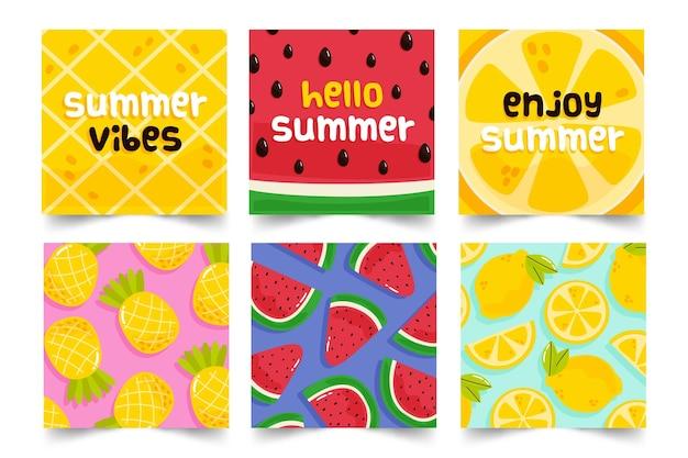Концепция коллекции летних открыток