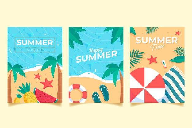 Concetto di raccolta carte estate
