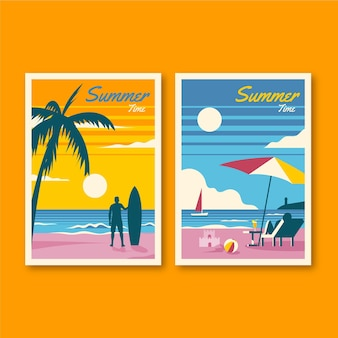 Summer cards collection theme