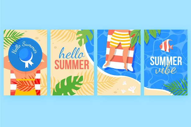 Summer cards concept