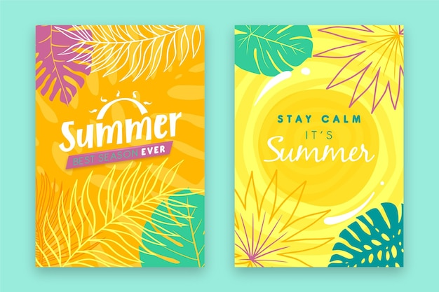 Summer cards pack