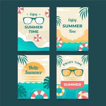 Шаблон дизайна летних открыток