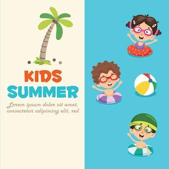 Summer children banner