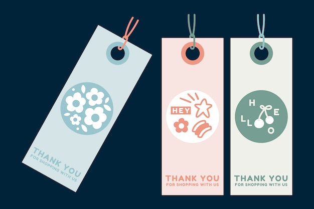 Summer clothing tags