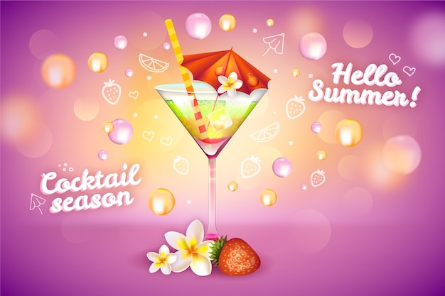 Summer cocktail drink ad