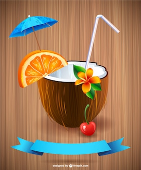 Summer cocktail vector